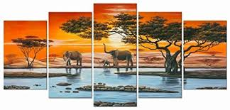 african paintings for living room amazon com