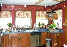 window treatments for kitchens french country kitchen window treatments soamoa org