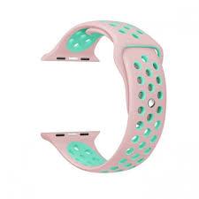 apple watch green light sport wrist strap for apple watch 42 mm rose green توصيل