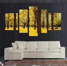 wall art designs yellow wall art autumn scenery yellow leaves