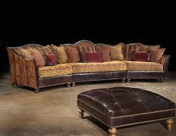 Rustic Leather Sofa by Western Sectional Rustic Sectional Western Family Room Anteks Home