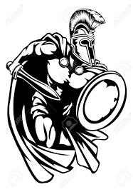 spartan roman or trojan gladiator ancient greek warrior with