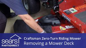 how to remove the mower deck on a craftsman zero turn riding mower