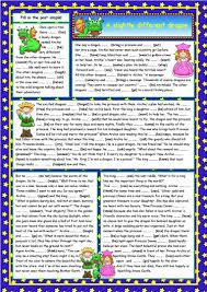 45 free esl fairy tales worksheets