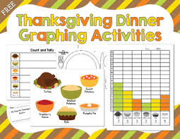 thanksgiving day freebie thanksgiving dinner graphing activities