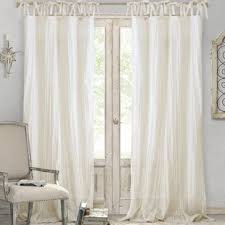 Sheer Curtains Tab Top Ivory And Tab Top Curtains Drapes You Ll Wayfair