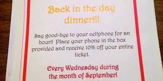 restaurant discounts restaurant giving discount for no cellphones business insider