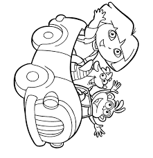 printable dora coloring pages to print 5529
