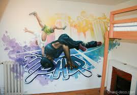 deco new york chambre ado fresque décorative pour ado sur le thème du break et du hip hop