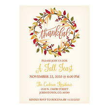 personalized thanksgiving invitations
