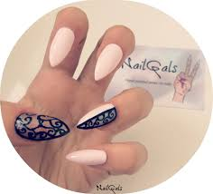 baby pink negative space baroque stiletto nails set of 20