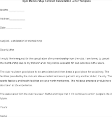 download gym membership contract cancellation letter template word