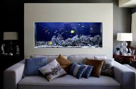 Modern House Living Room Modern House Interior With Saltwater Aquarium Fresh Special