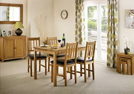Oak Dining Room Table And 6 Chairs Solid Oak Table And 4 Chairs Dining 6 Kitchen Set With Leaves Wood