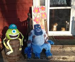 monsters inc halloween decorations cheapskate 4 life monsters inc scarecrow and pumpkin diy