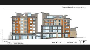 my ballard developers release design for mixed use structure at