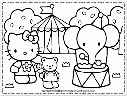 coloring pages kitty kids coloring