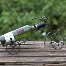 tricycle single wine bottle holder purple sunrise