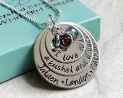 Necklace With Children S Birthstones Bushel And A Peck Etsy