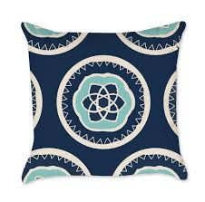 coral gray and turquoise tribal pattern throw pillow