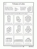 5th grade math worksheets cubes of small numbers greatschools