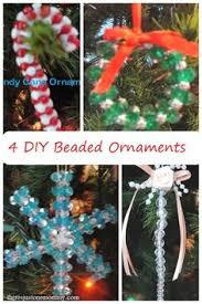 wonderful diy bead and ribbon wreath ornament for
