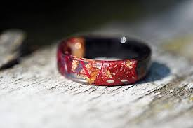 jewelry wooden rings images Red resin ring wooden wedding ring wood jewelry wooden jpg