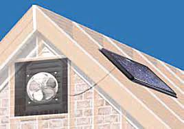 solar powered attic fan gable mount 20w 1250 cfm w thermostat