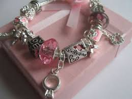 charm bracelet for charm bracelet gift boxed pink charms