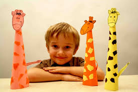 paper craft for kids paper giraffe diy easy crafts for kids