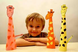 paper craft for kids paper giraffe diy easy crafts for kids