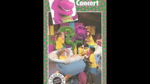 barney u0026 the backyard gang barney in concert cassette video