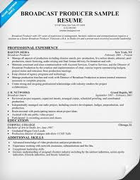 Producer Resume Examples by Musical Theatre Resume Template