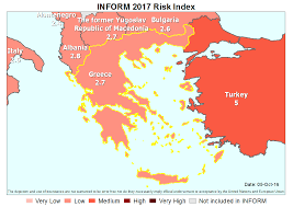 Greece Turkey Map by Greece Disaster U0026 Risk Profile Preventionweb Net