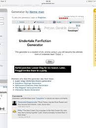 wip undertale fanfiction generator undertale amino