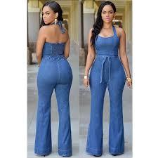 Jeans Jumpsuit For Womens Online Get Cheap Women Rompers Denim Dress Overalls Aliexpress
