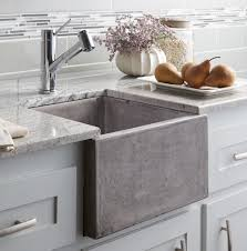 Mixed Metals Kitchen by Stylish Concrete Sinks Designed To Energize The Kitchen And Bath