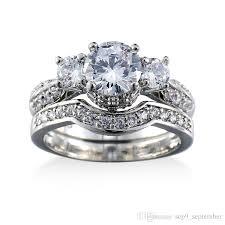real crystal rings images 2018 crown gemstone rings set 18k real gold plated statement jpg