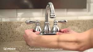 caldwell two handle high arc bathroom faucet moen features