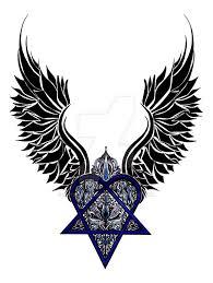 daemon winged heartagram by katerinabelikova on deviantart