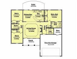 split bedroom modern design split bedroom house plans floor 1600 square feet