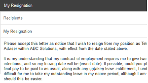 resignation letter how to hand in resignation letter ideas