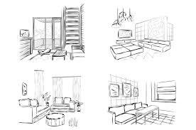 room interior sketch illustrations creative market