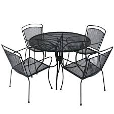 Black Wrought Iron Patio Furniture Sets Rod Iron Patio Furniture Outdoor Wrought Iron Patio Table And