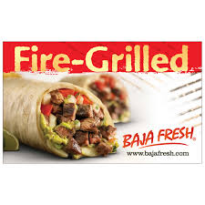 restaurant gift cards online baja fresh four 25 gift cards