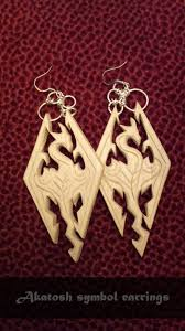 skyrim earrings elder scrolls skyrim akatosh symbol earrings by cry0stasis on