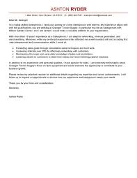Sales Representative Cover Letter Template by Leading Professional Salesperson Cover Letter Examples U0026 Resources