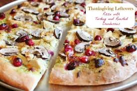 thanksgiving turkey left pizza with turkey and roasted