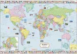 Map Wrapping Paper World Political Map Paper Print Maps Posters In India Buy Art