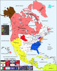 North America Map by Columbia Alternate History North America Map By Canadakid97 On